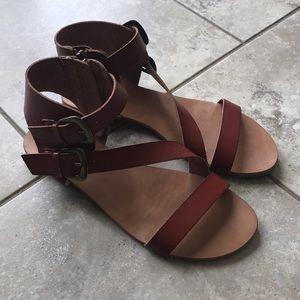 Brown boho sandals